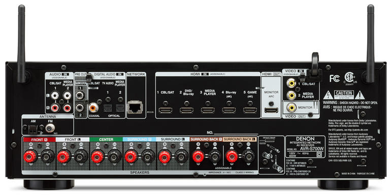 Denon AVR-S700W 7.2-Channel Network AV Receiver