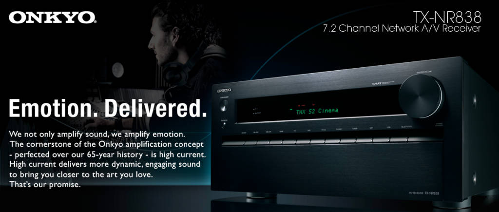 Onkyo TX-NR838 Emotion Delivered, Onkyo TX-NR838 7.2-Ch Network A/V Receiver w/ HDMI 2.0